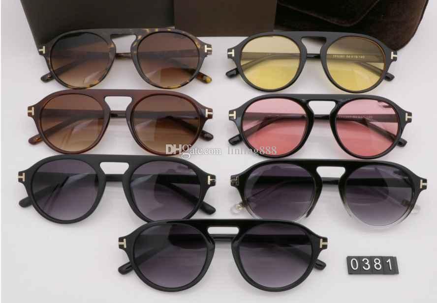 2019 luxo top qualtiy New Fashion mulheres L0381 Tom Óculos De Sol Para O Homem mulher Erika Eyewear ford Designer Marca Óculos de Sol com caixa original