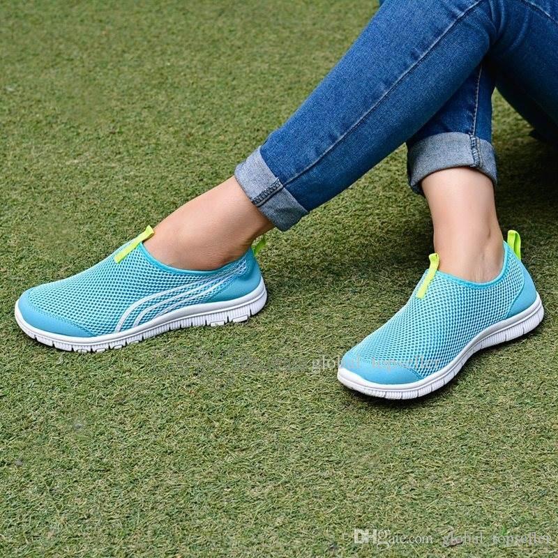 Новое прибытие с коробкой мода мужчин обувь Mesh дышащие кроссовки Walking Мужчины Обувь New Комфортная Легкий кроссовки Ac-200301183