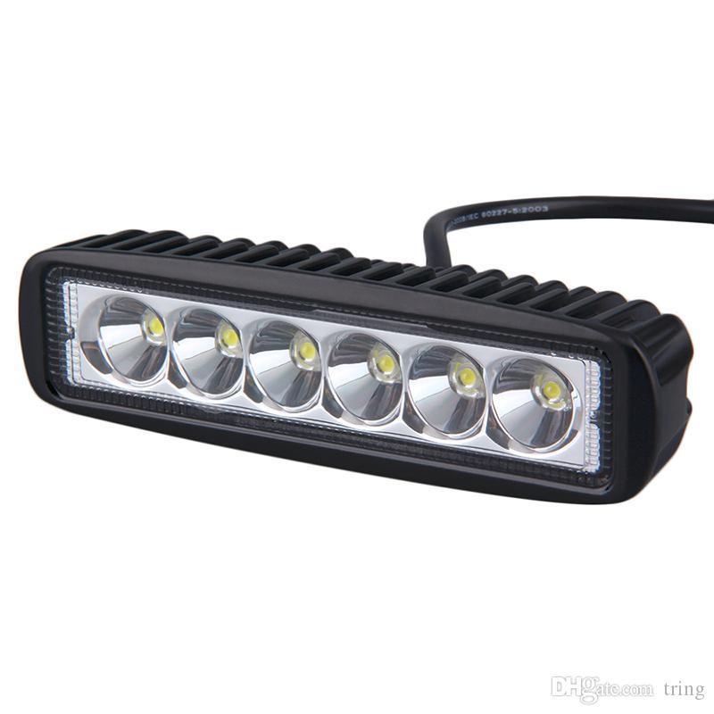 عمل ضوء 18W 6INCH LED بار العمل الضوء كما Worklight الفيضانات بقعة ضوء لقوارب الصيد الصيد
