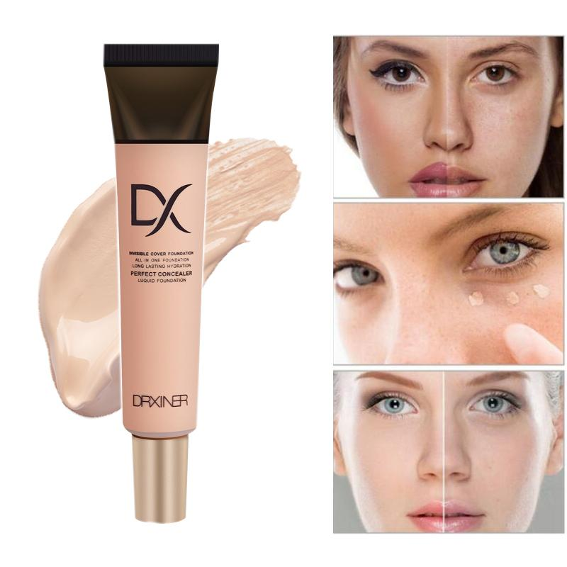 DRXINER liquid foundation base foundation Face Base Makeup Full Coverage Concealer Whitening Primer BB Cream makeup