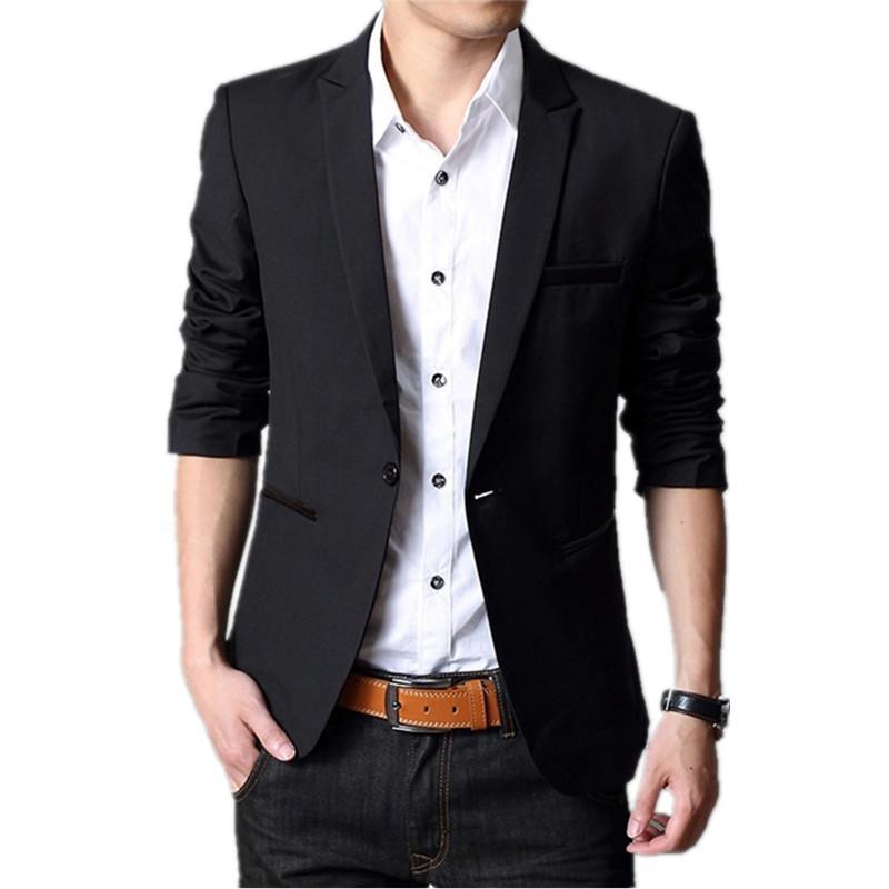 O revestimento Homens Blazer 2019 Ternos Moda slim Masculino Casual Blazers Men tamanho S-5XL Chegada Nova Roupa do partido Blazer