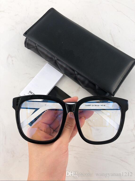 Nuevo marco de las lentes 5907 vidrios del marco del tablón marco de la restauración de maneras antiguas Gafas de Grau hombres y mujeres ojo miopía marcos de los vidrios