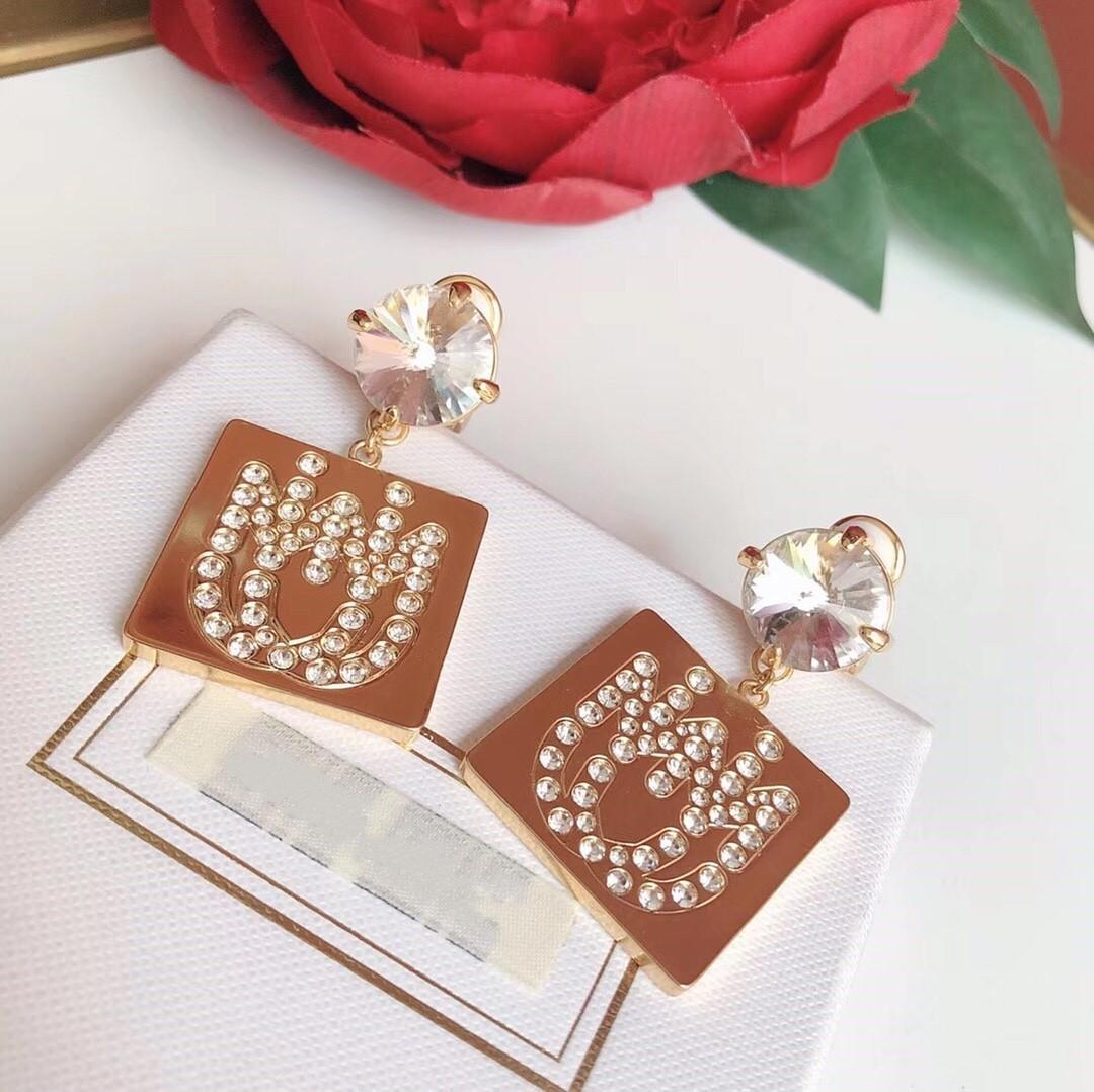 Hot Selling Explosion Personality Alphabet Diamond Designer Earrings luxury designer jewelry women earrings