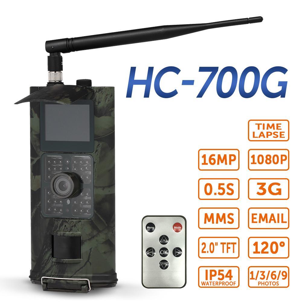 Hc-700g Trail Camera Game Hunting Acorn Wild Gsm Deer Mini Night Vision Mms Solar 16mp 940nm Trap Suntekcam Photo 3g 2g 700m T191016