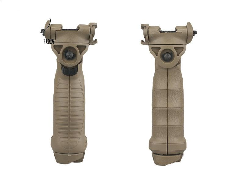 التكتيكية تمتد قبضة ترايبود AR15 الدوارة bipod قابل للسحب bipod القبضات عززت الأسود