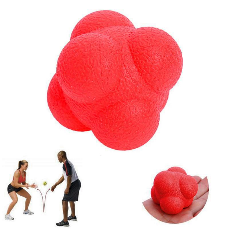 Altıgen Reaksiyon Topu Silikon Çeviklik Koordinasyon Refleks Egzersiz Spor Fitness Eğitim Topu