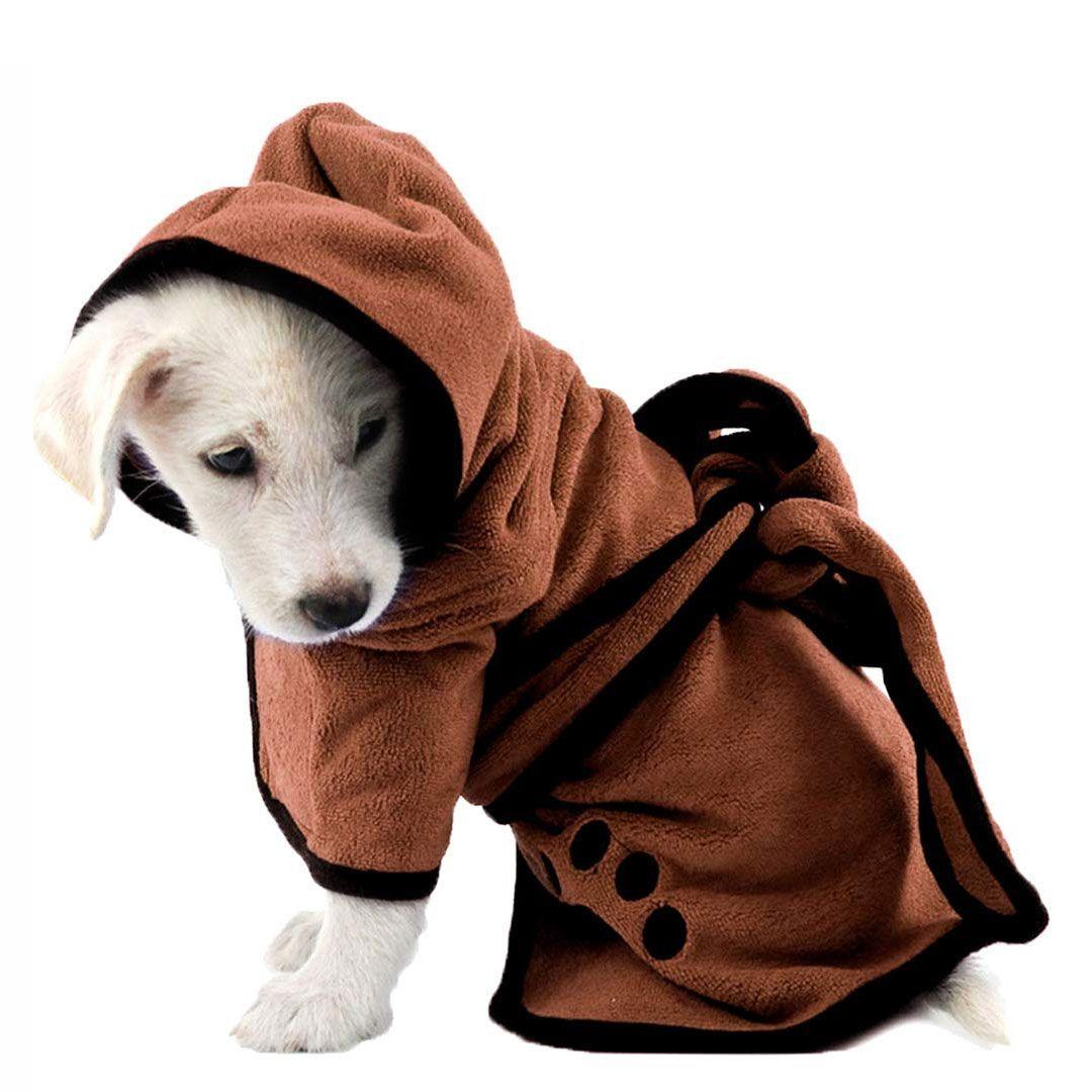 şapka Pupuy Kedi Köpek Bakımı malzemeleri ile Su Elyaf Pet Kurutma Havlu Robe Emici Köpek Bornoz Yumuşak Hızla
