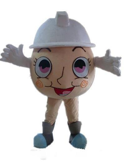 2020 Discount factory sale an egg mascot costume with a white hat for adult to wear for sale
