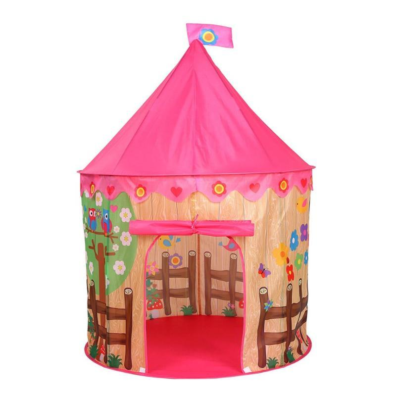 Portable Kids Tent Prince Pricess Folding Baby Play Tent Children Castle Cubby Play House Tent Outdoor Games Children Birthday