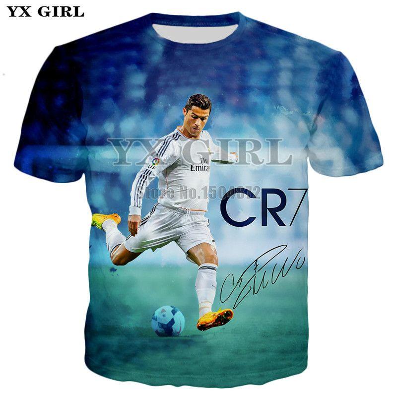2019 del verano del Mens T informal camisa de manga corta camisetas Hombres / Mujeres camiseta Carácter Cristiano Ronaldo impresas en 3D camiseta unisex Tops Y200422