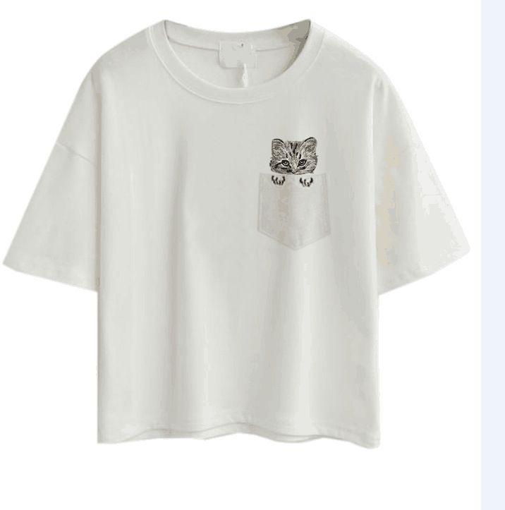 Vintage Vogue Paris 블랙 프린트 여아 셔츠 여름 패션 T 셔츠 참신 멋진 캐주얼 셔츠 탑스 SS10102