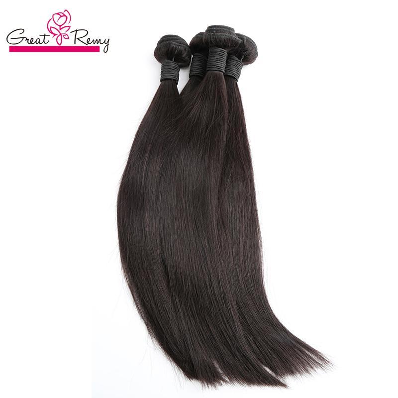 100% chinesisches Haar 3bundles Remy menschliches Haar weben gerade natürliche Farbe günstige chinesische Haar-Greatremy Drop Shipping