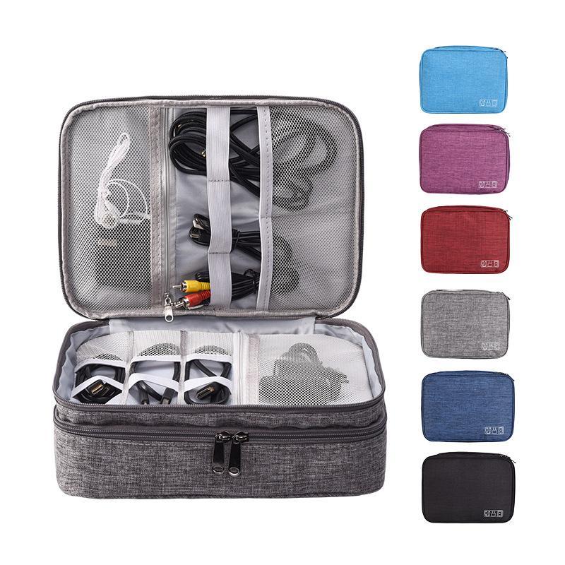 Maquiagem Viagem Digital Organizer Headphones Charger Cable aparelho eletrônico Banco Power Devices Divisor Cosmetic Box Acessórios