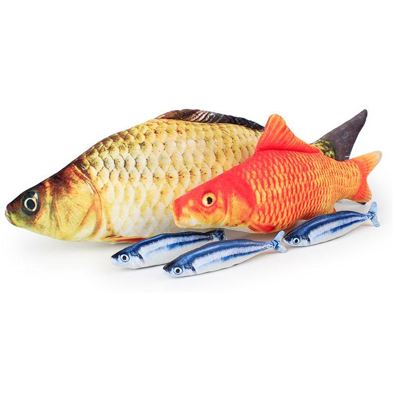 Künstliche Lustige Fische Plüsch Katzenspielzeug Mint Katzenminze Pet Supplies Schlafen Lebensechte Fische Spielzeug-Kissen-Puppe
