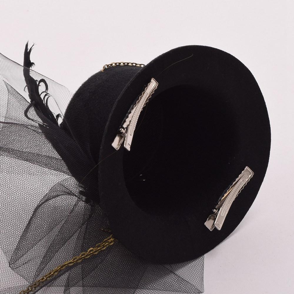 10c4a01d1f4db 2019 Clip Women Steampunk Fascinator Mini Top Hat Clip Punk Gothic Gear  Wings Clock Butterfly Decoration Headwear Hair Accessories From App003