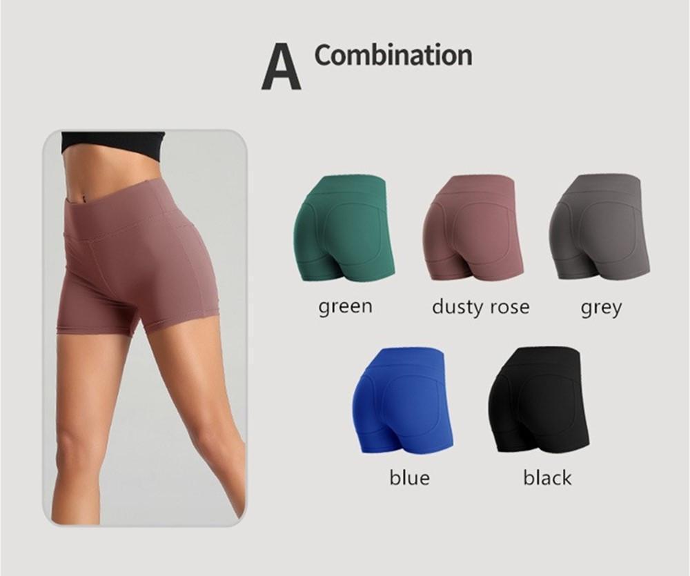 Femmes taille haute Shorts Pousser Yoga Fitness Course Up Gym Casual solide élastique extensible sport pantalons courts 5 couleurs 3 Styles FY9090