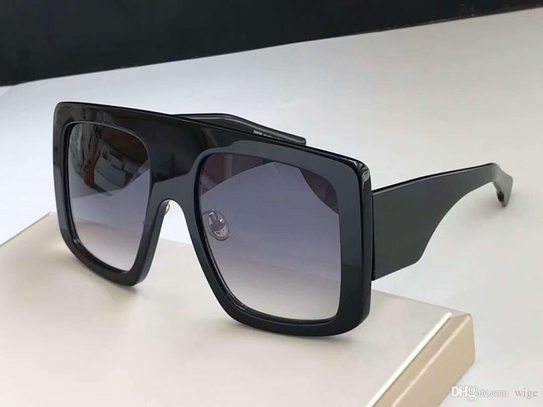 Ovesized New Power Shades Gradient Cinza Lentes de moda com Sonnenbrille The Sunglasses Box Black Women Sunglasses Designer KBMBH