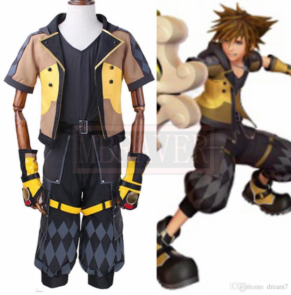 novo Kingdom Hearts III Sora Cosplay Personalizar