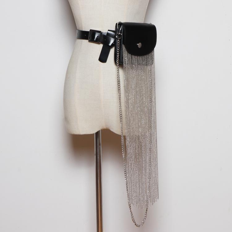 2020 Packs MIni Praça Flap Mulheres cintura destacável PU cinto de couro do batom Saco Grande Fringe Tassel Cadeia Shoulder Bag Pacote