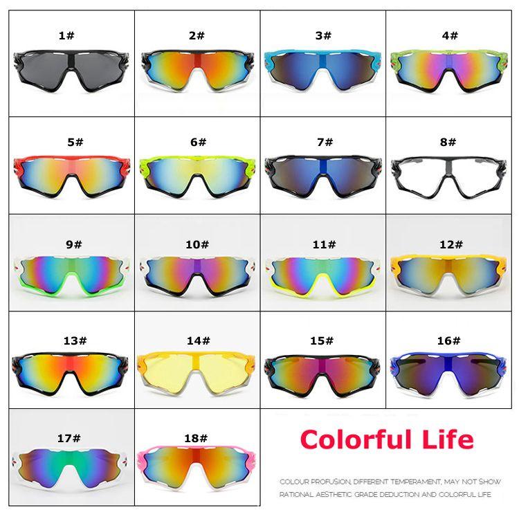 Esporte óculos de sol óculos de sol 18 cores homens e mulheres de vidro de bicicleta nice esportes óculos de sol óculos de cor deslumbrante um +++ atacado 0035GLS