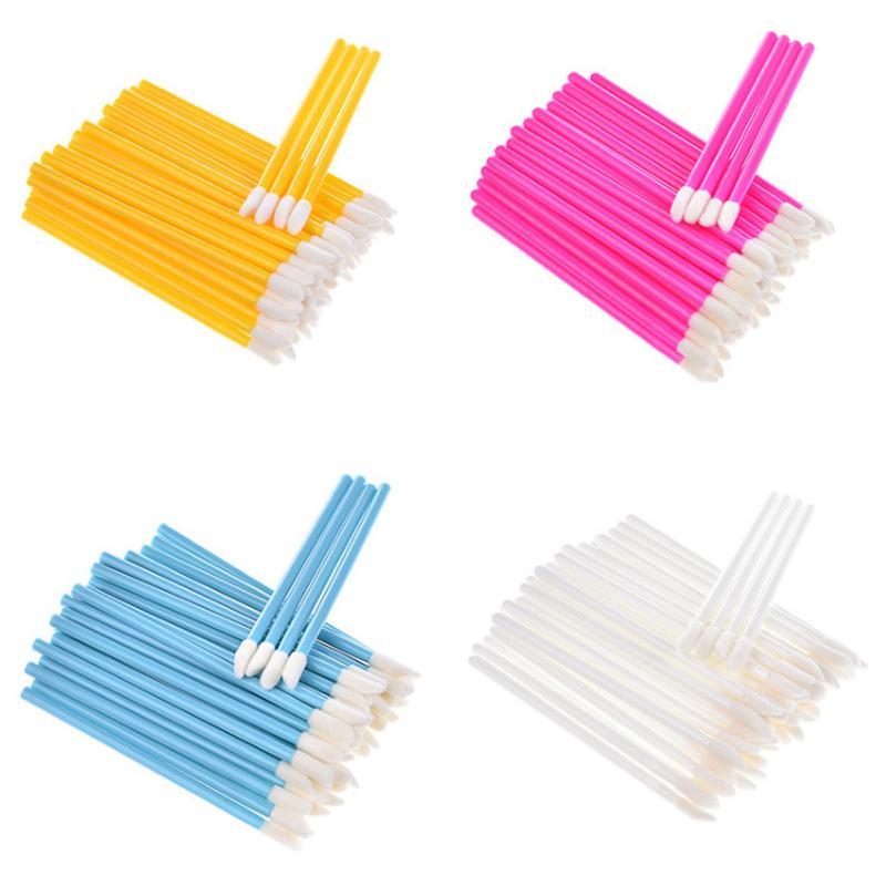 Novo pacote de varejo colorida Composição Lip Pincel Wands descartável Batom Escovas da ferramenta Etiqueta Aplicador cosmético Privada