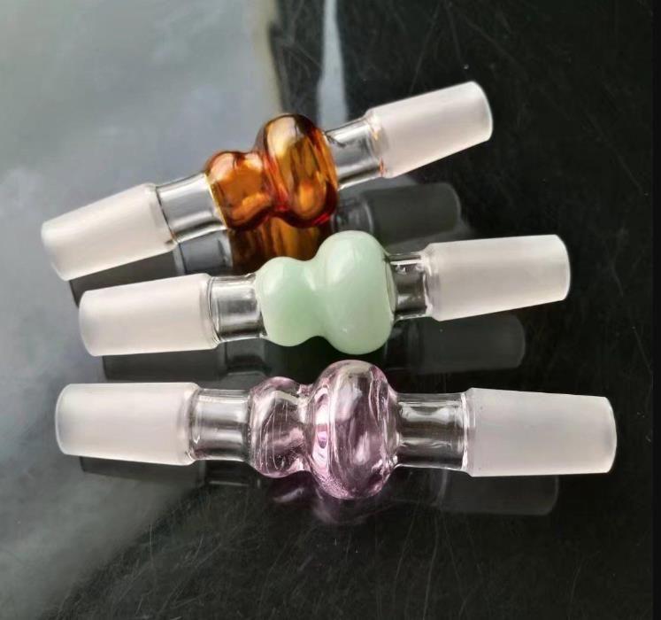 Calabaza de color de vidrio adaptador de accesorios de tubería bongs, pipas de colores de cristal curvado quemador de aceite tuberías de agua Tubos Dab aparejo de cristal Bongs Pi