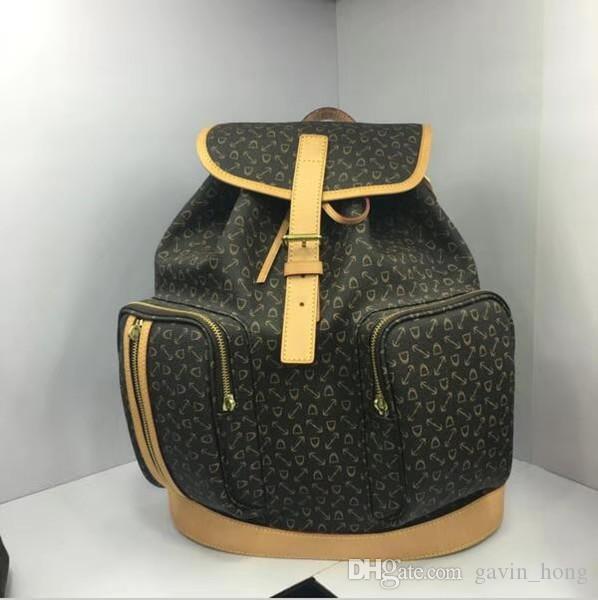 Nice Большой размер Мода натуральная кожа рюкзак дизайнер рюкзак дамы мужчин бренд рюкзак дорожные сумки школьные сумки 40107