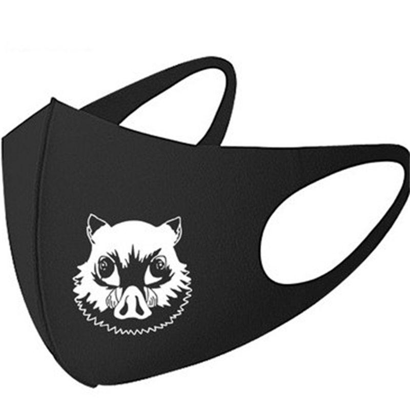 Unisex Anime Face Masks Pattern Letter Print Mouth Mask Breathing Earloop Men Women Respirators Keep Warm Clean 6 5mc H1