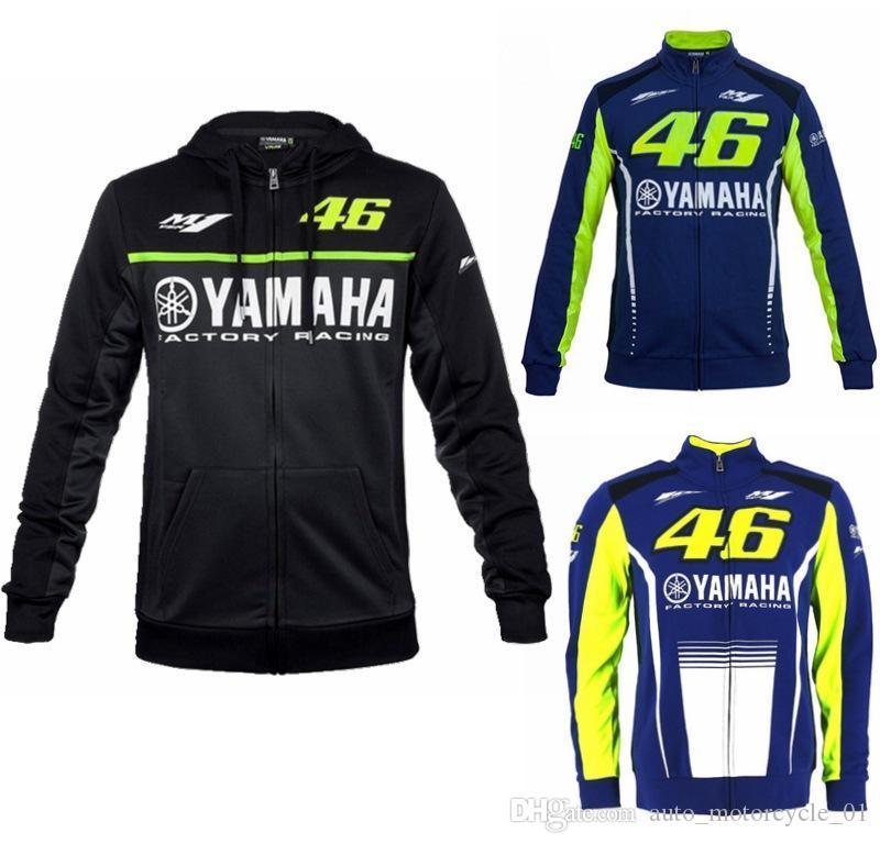 hombre con capucha de la motocicleta de carreras de moto que monta con capucha de la chaqueta de los hombres de la ropa chaqueta con cremallera jersey de cruz sudaderas capa a prueba de viento Yamaha M1