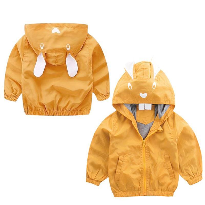 Winter Fleece Jackets Boy Trench Children's Clothing Autumn Animal Print Kids Boys Hooded Jacket Coat Windproof Outerwear