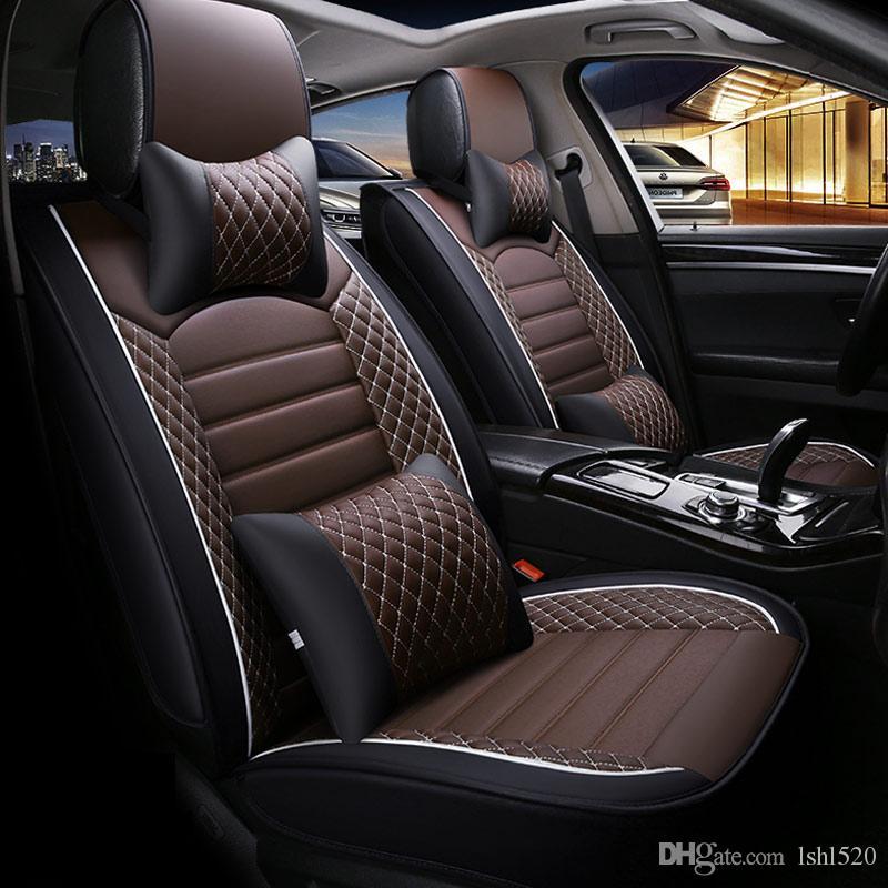 Toyota Sedan Corolla Camry Rav4 Auris Prius Yalis Avensis 럭셔리 PU 가죽 자동 인테리어 액세서리 용 패션 자동차 시트 커버