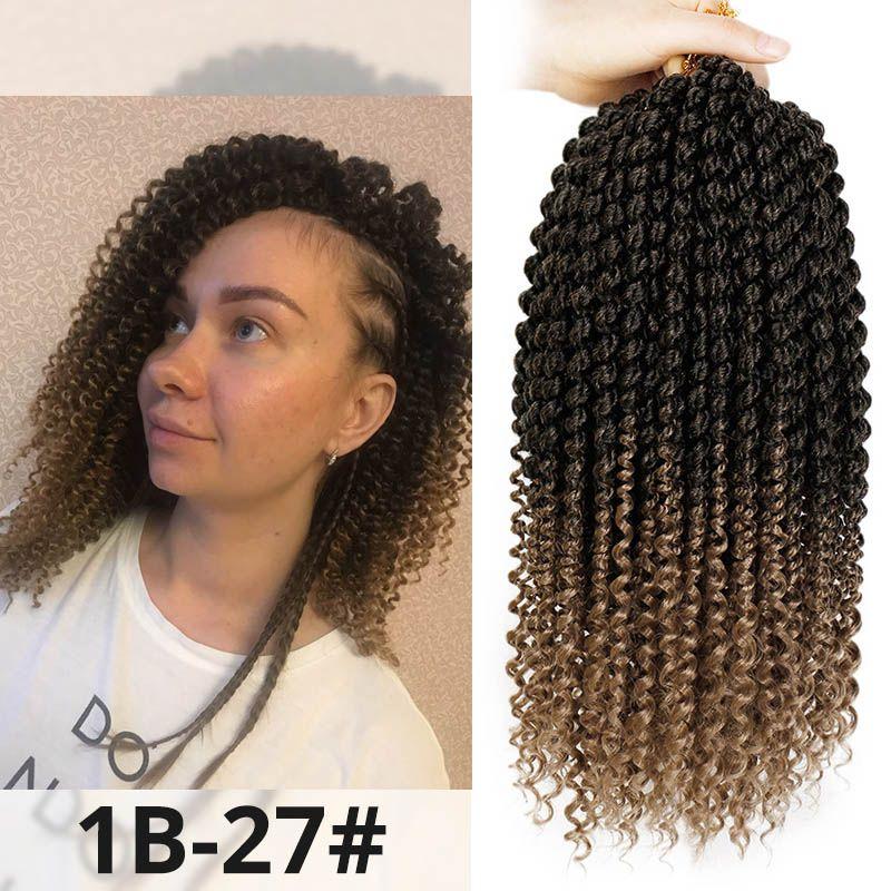 2019 Hot! 14 Inch Marley Braids Ombre Hair Crochet Braid Synthetic Braiding  Hair Extensions Braids Curly Crochet Hair Women Locs Twist From