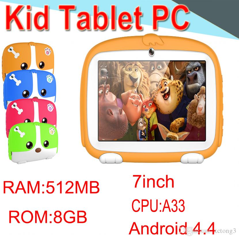 "HL Kids Band Tablet PC 7"" Quad Core Children Tablet Android4.4 512MB 8GB Allwinner A33 Google Player WIFI Speaker Protective Cover XPB"