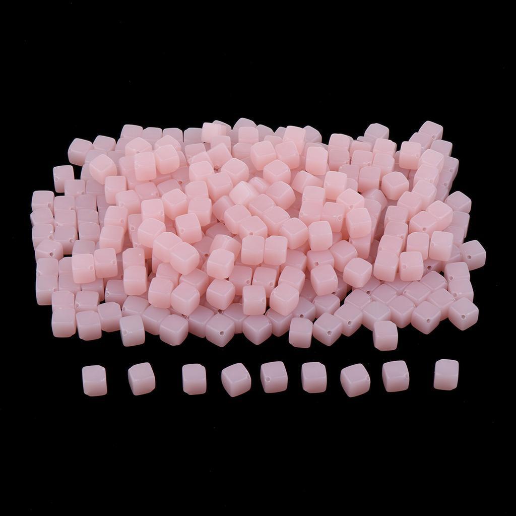 Dikiş El Sanatları Aksesuar 1 Paketi 10mm Plastik Kübik Gevşek Boncuk