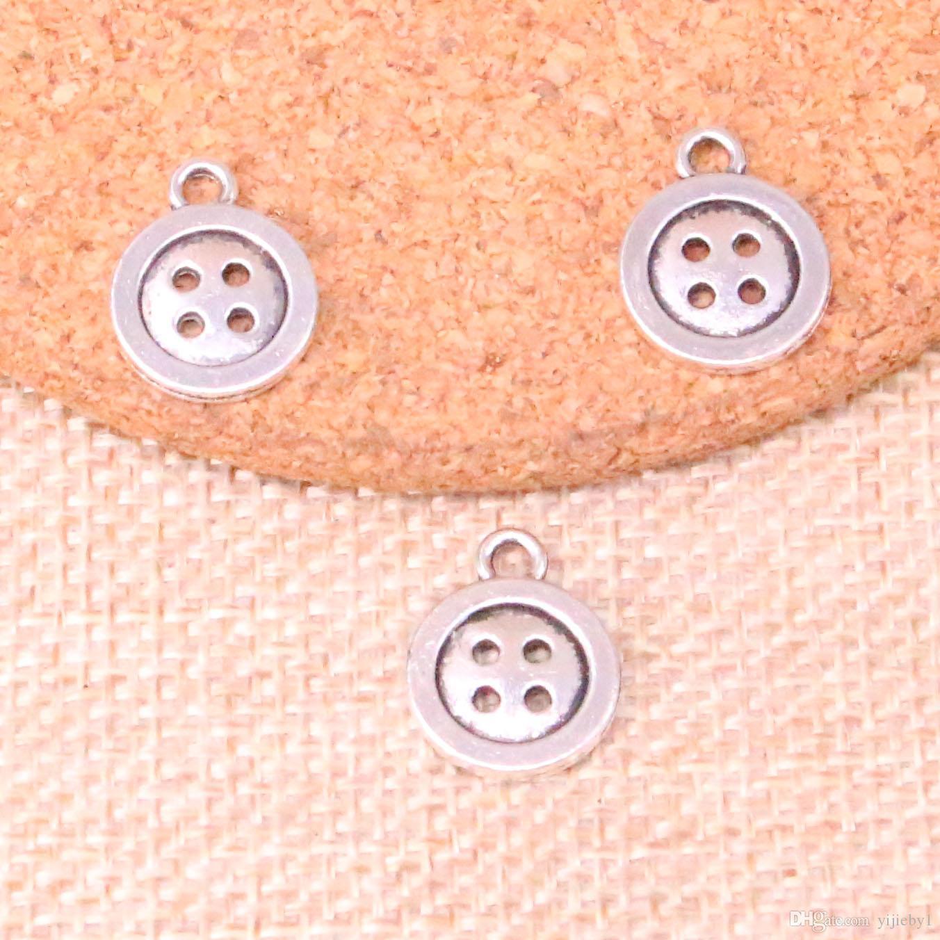 145 stücke Charme doppelseitige taste Antikes Silber Überzogene Anhänger Fit Schmuck, Die Entdeckungen Zubehör 13mm