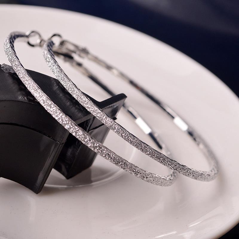 6CM Hoop Rodada Dangle Earring Jewelry Mulheres Crystal Diamante Rhinestone Grande Ear -MX8 Anel