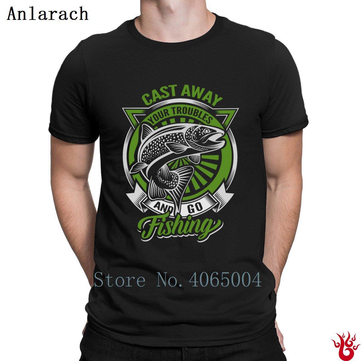 Trota Fishings T-shirt Naturale Stampa Lettera fitness maglietta per gli uomini estate Pop Top T Moda girocollo in cotone 100%