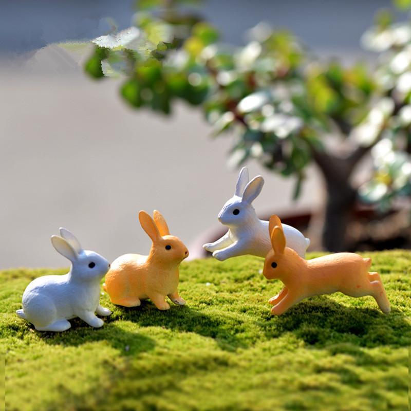 Mini 3pcs Rabbit Bottle decoration supplies moss micro landscape deco Garden deco Creative handicrafts