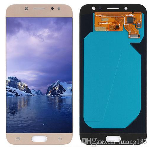 100% Original Super Amoled For Samsung Galaxy J7 Pro 2017 J730 J730F LCD Screen Display Touch Digitizer Assembly Replacement lcd