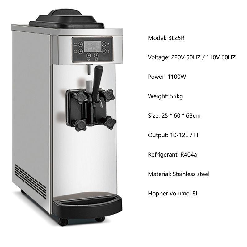 Morbido gelato Macchina Produttori Nuova macchina industriale tavolo in acciaio inox top yogurt gelato 1100W