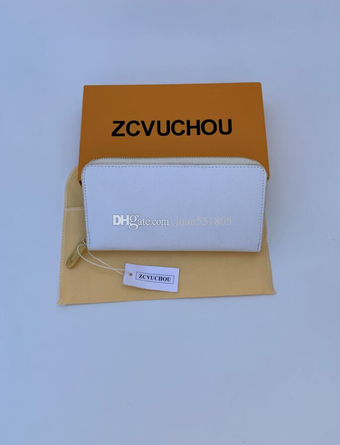 PORTAFOGLIO VERTICALE ZIPPY il modo più elegante per portare in giro di denaro, carte e monete lungo lavoro di progettazione uomini famosi titolare della carta di borsa in pelle