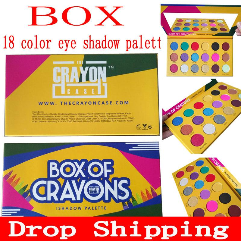 DropShipping Makeup Eye shadow palette BOX OF CRAYONS Eyeshadow iShadow Palette 18 Colors Shimmer Matte Eyeshadow Palette free shipping