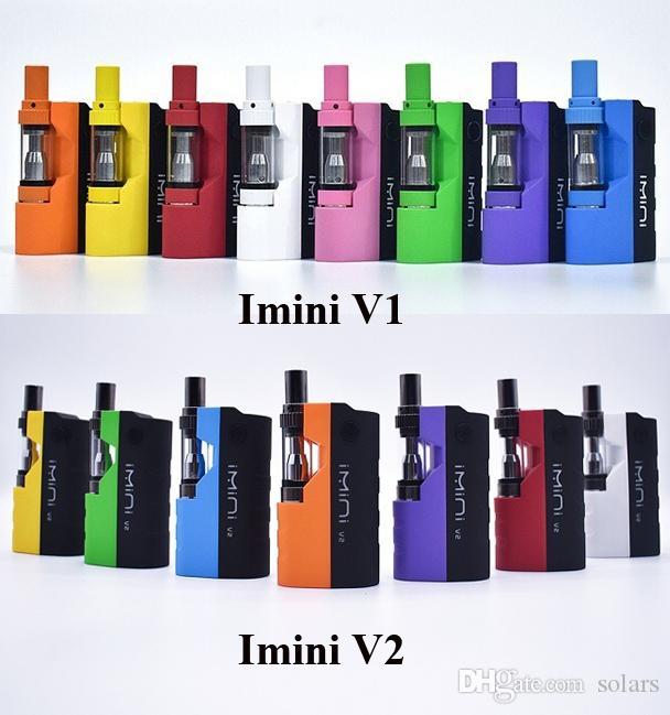 Аутентичные Модернизированный Imini V1 V2 Mod Kit 650mAh Разогрев Box Батарея переменного напряжения с 0,5 мл 1,0 мл Vape картридж для густого масла
