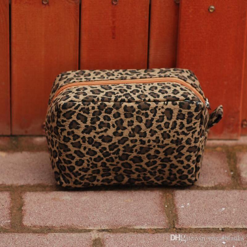 Cheetah Cosmetic Case 21.6 * 9.4 * 15.2см с сумками туалетные бланки прямоугольники сумка оптом женщина леопардовый макияж для TXQCG