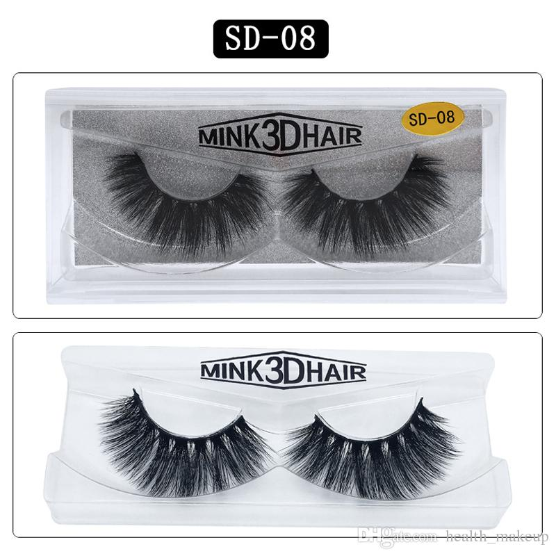 Hot 3D Mink Eyelashes Eye makeup Mink False lashes Soft Natural Thick 3D Eye Lashes Extension Beauty Tools 17 styles