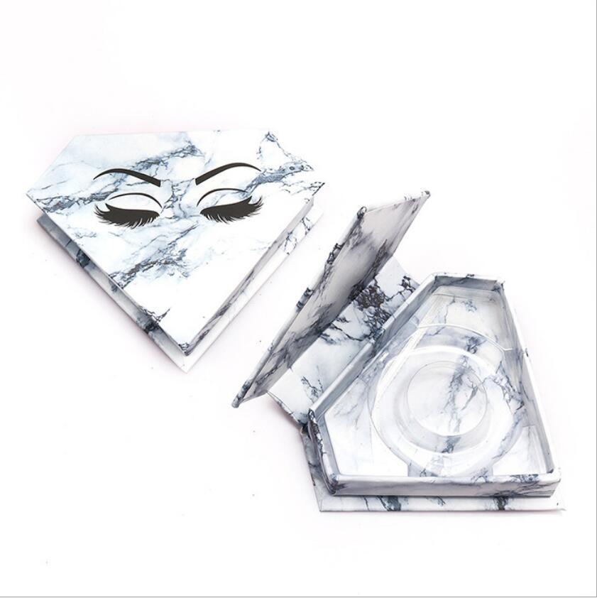 الرموش صناديق الجملة الماس رمش كاذبة مربع التعبئة والتغليف وهمية 3D المنك فو CILS حالة المغناطيسي الرموش فارغة