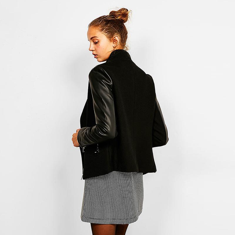 Новая осенняя мода женщины свободные теплые утолщение Мандарин воротник молнии пальто женский длинный рукав искусственный мех свободные пальто C 850