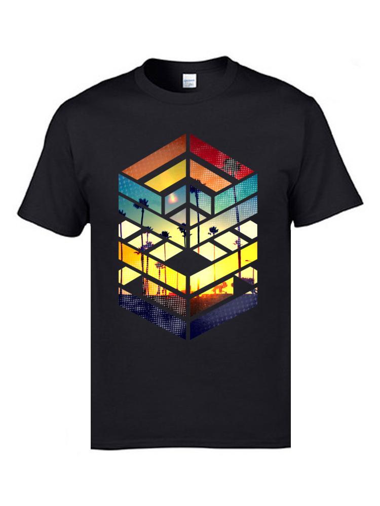 T-Shirts Uomo bizzarro Cotton Tee camice all'ingrosso puro di alta qualità di Tee fresco d'estate magliette Normale corta abbigliamento manica