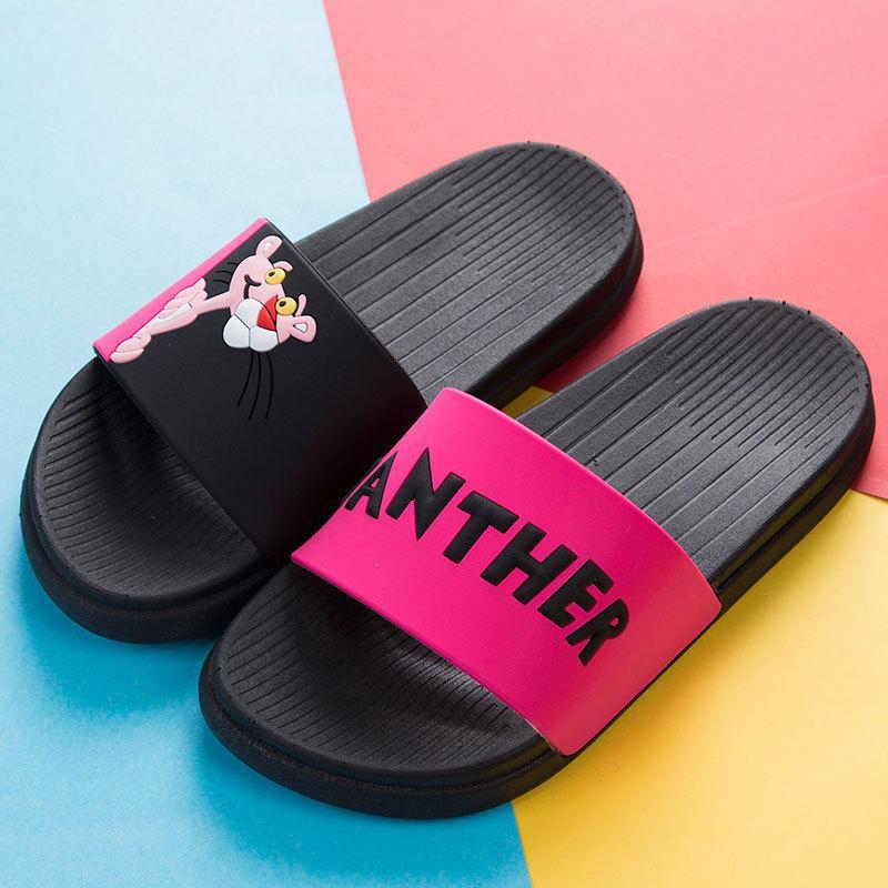 Fashion Non-slip Soft Beach Slides Home Women Slippers Cartoon Summer Unicoin Slippers Women Footwear House Slipper Cute Animal Y200106