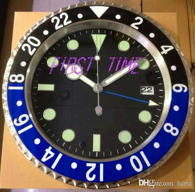 ديكور المنزل ساعة الحائط التصميم الحديث جودة عالية العلامة التجارية الفولاذ المقاوم للصدأ جديدة مضيئة وجه التقويمات FT-GM004